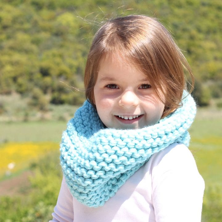 Kids Cowl Free Knitting Pattern Free Knitting Patterns Handy