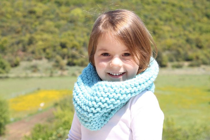 Kids Cowl Free Knitting Pattern