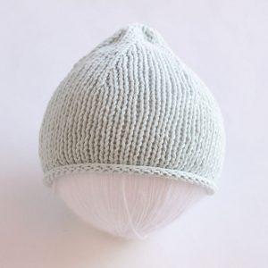 knit flat newborn hat
