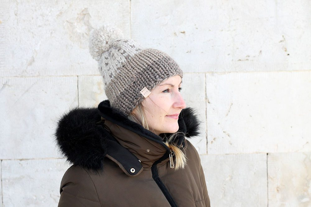 knitted slouch beanie hat