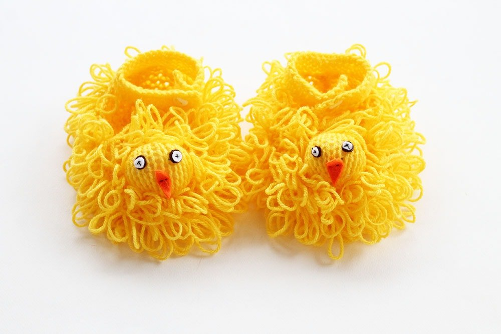 loop stitch easter chick pattern