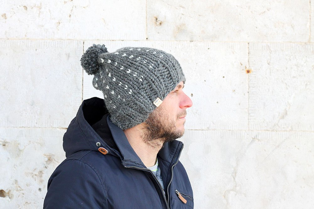 mens winter bobble hat