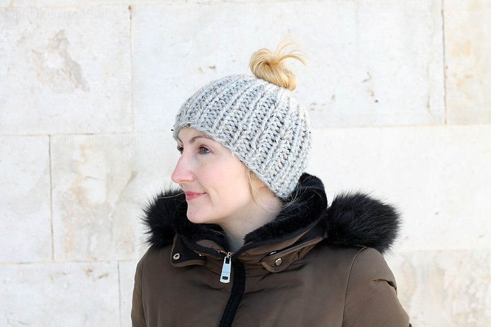 The Ponytail Hat Knitting Pattern PDF Download | Handy Little Me