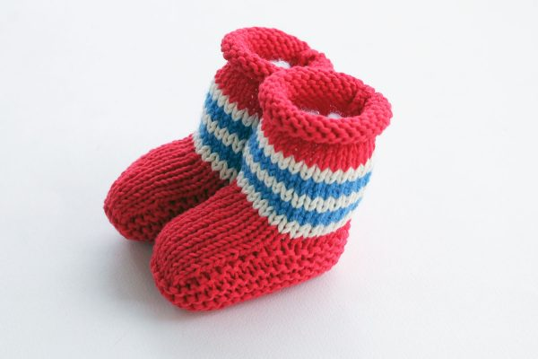 pirate baby booties knitting pattern