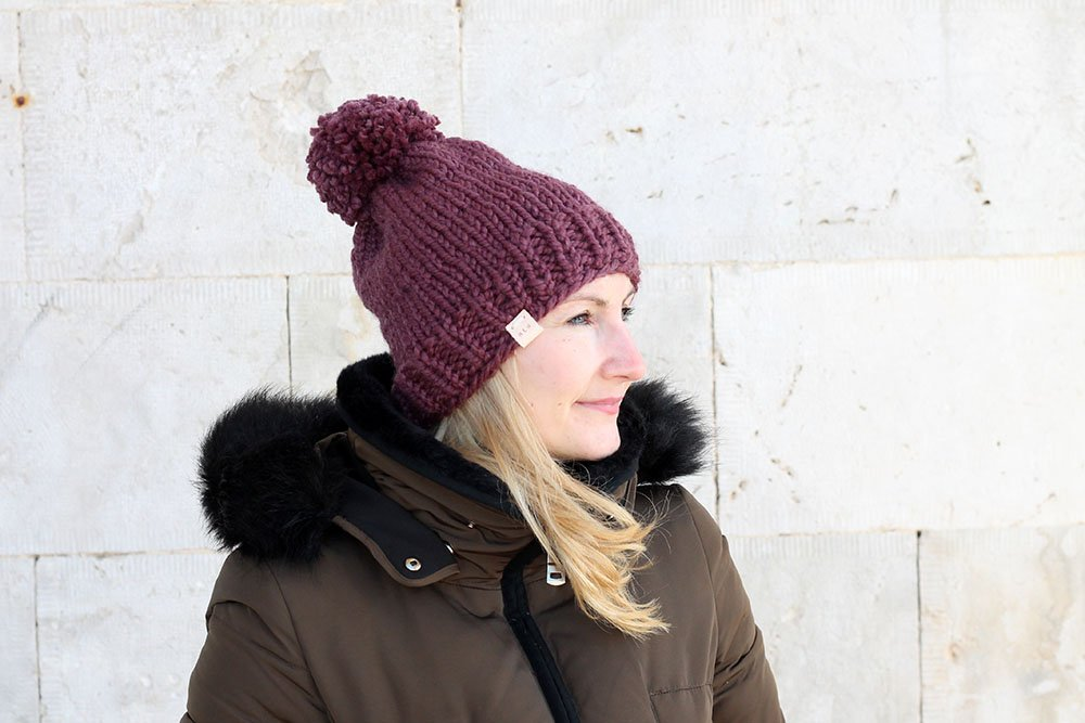 Chunky Knit Hat With Pom Handy Little Me