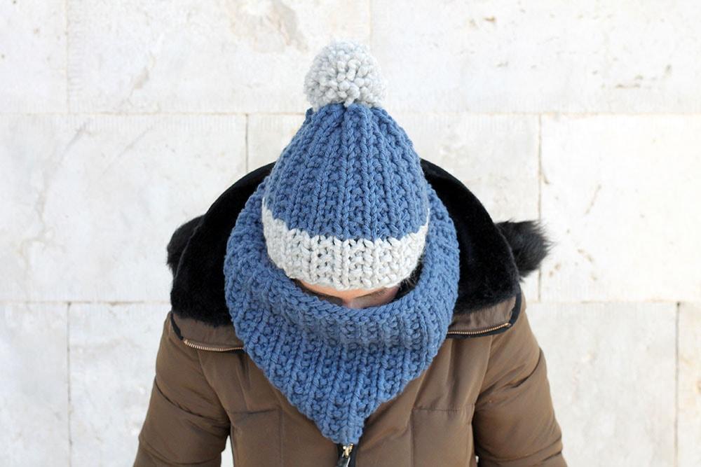 ribbed cowl free knitting pattern