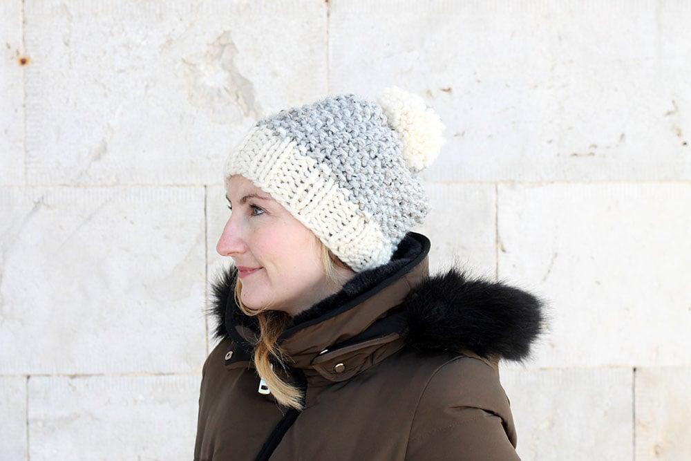 slouch knit beanie pattern