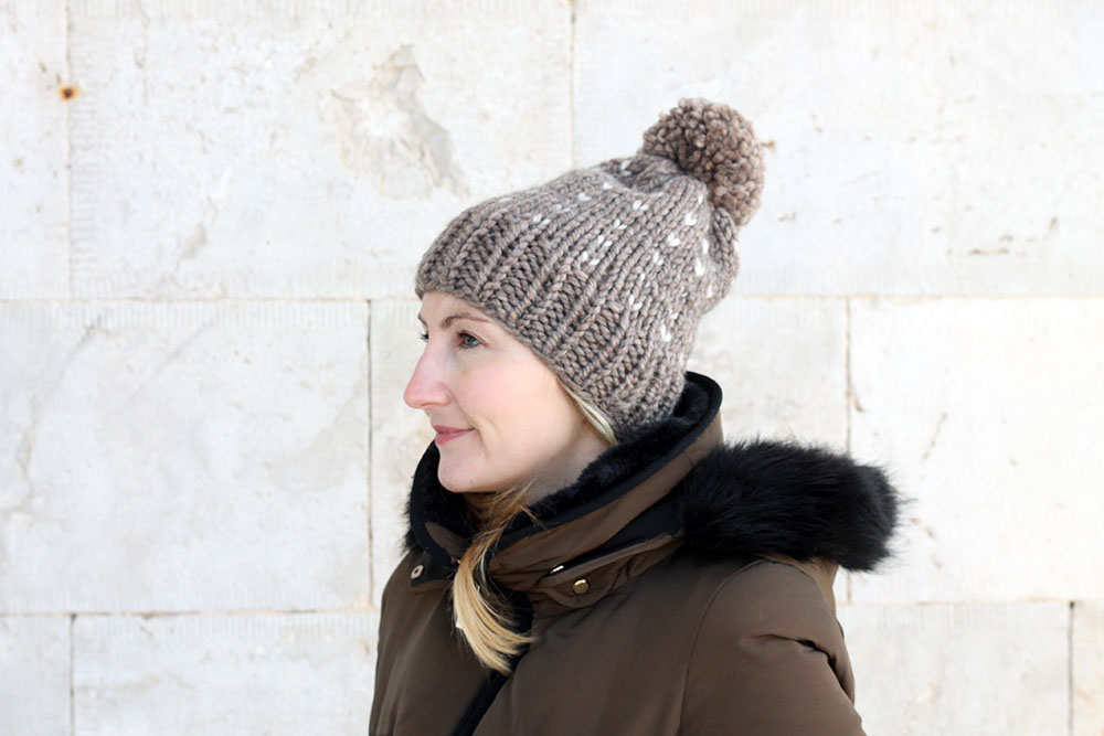 slouchy bobble hat pattern