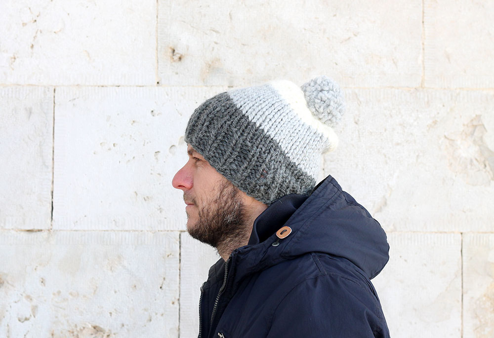 striped knit hat pattern