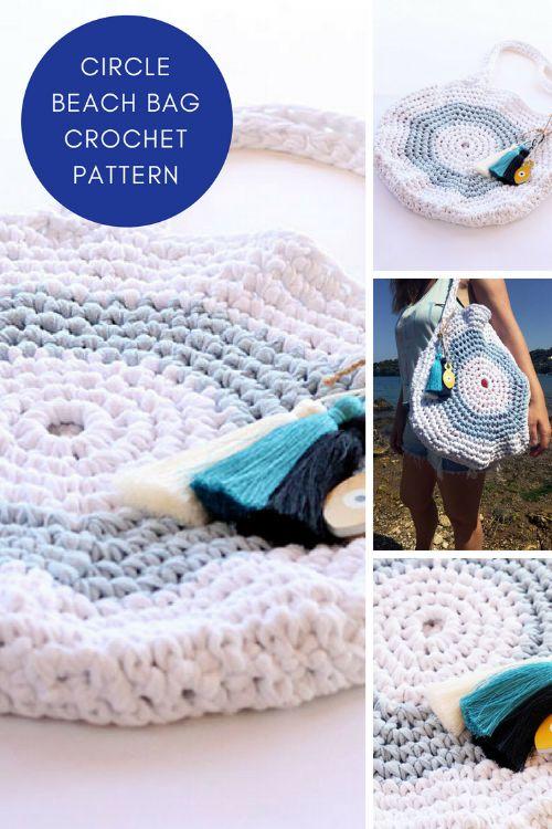 crochet circle bag