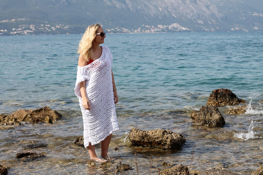 beach cover up knitting pattern