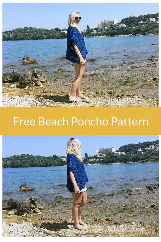 Free beach poncho pattern