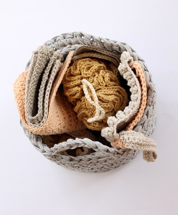 crochet basket pattern easy