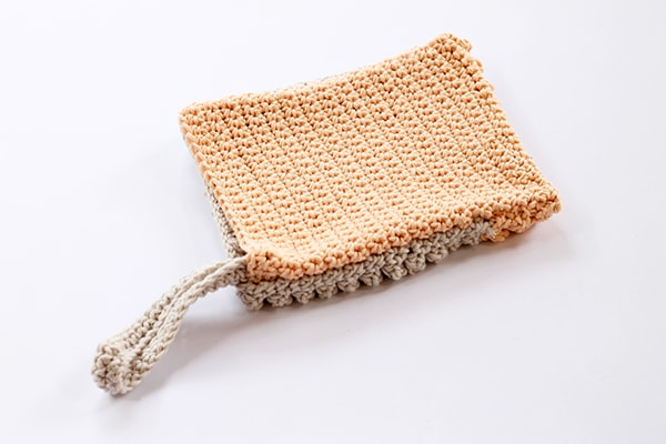 crochet bobble wash mitt pattern