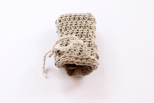 crochet soap holder