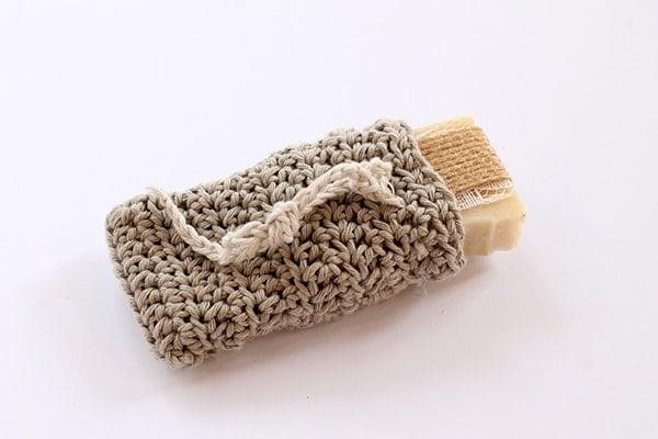 crochet soap sack small