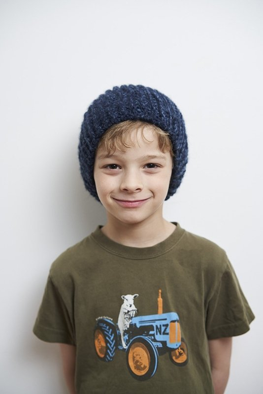 Kids knitted beanie hat