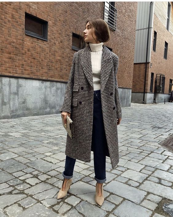 tailored tweed coat outfit