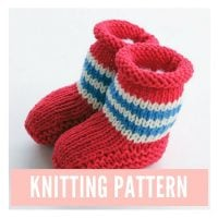 Pirate Baby Booties Knitting Pattern PDF Download | Handy Little Me