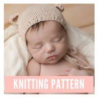 Newborn Bear Bonnet Pattern PDF Download | Handy Little Me