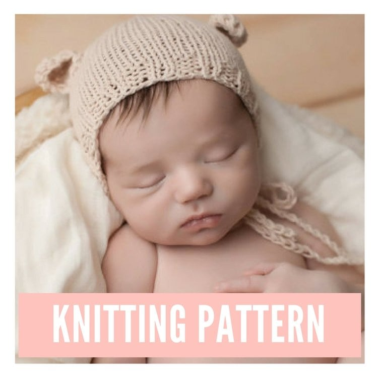 Newborn Bear Bonnet Pattern PDF Download | Handy Little Me