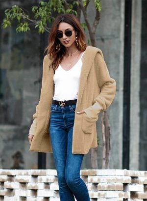 Women's Fashion Long Sleeve Sweater Coat