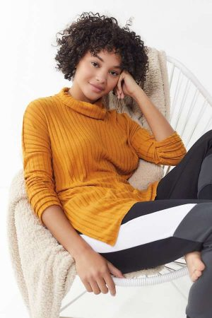 Out From Under Iona Ribbed Turtleneck Top