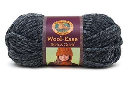 Lion  640-503 Wool-Ease Thick & Quick Yarn , 97 Meters, Granite