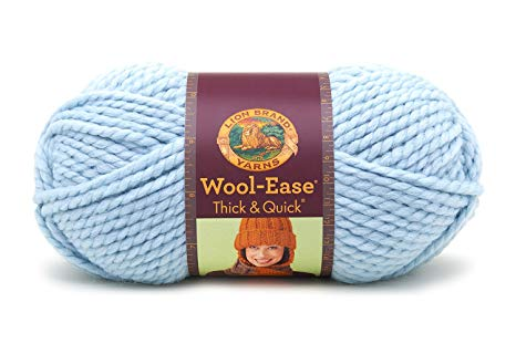Lion  640-105L Wool-Ease Thick & Quick Yarn , 97 Meters, Glacier