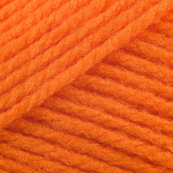 James Brett Top Value DK Double Knitting Wool 100% Acrylic Yarn 100g Ball (Neon Orange 8443)