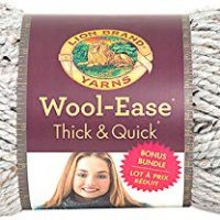 Lion Brand Yarn 641-154 Wool-Ease Thick & Quick Bonus Bundle, Grey Marble