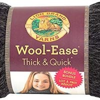 Lion Brand Yarn 641-149 Wool-Ease Thick & Quick Bonus Bundle, Charcoal