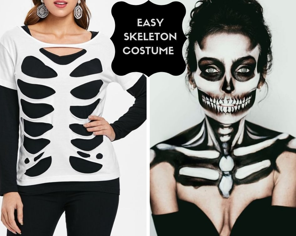 Easy Skeleton Halloween costume