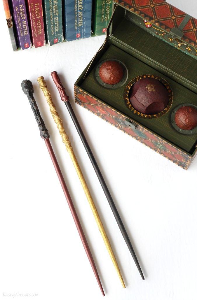 Harry Potter wands made from chopsticks