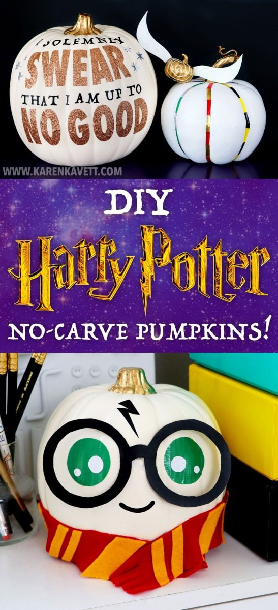 DIY Harry Potter pumpkins