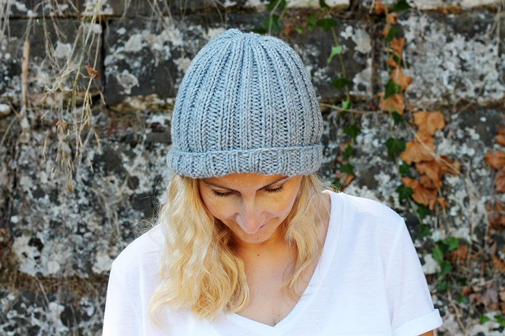 beginner beanie knitting pattern