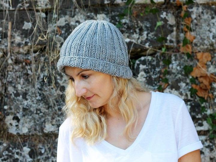 Easy Beginner Hat Knitting Pattern Free Knitting Patterns Handy