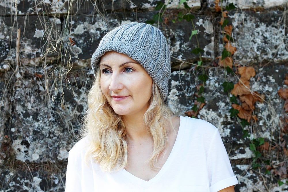 super easy hat knitting pattern