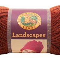Lion Brand Yarn 545-135 Landscapes Yarn, Rust
