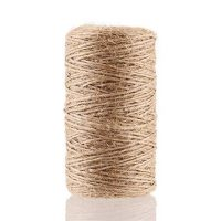 LOKIPA 328 Feet Natural Jute Twine for Arts and Crafts Jute Rope Christmas Gift Packing String for Gardening String Natural Rustic String Gift wrap Twine