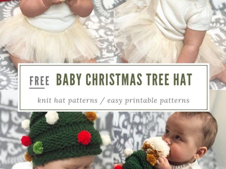 e330f58b13a90 Baby Christmas Tree Hat Knitting Pattern   Free Knitting Patterns ...