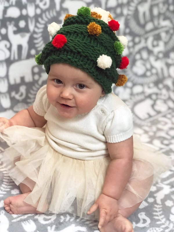 Baby Christmas tree hat