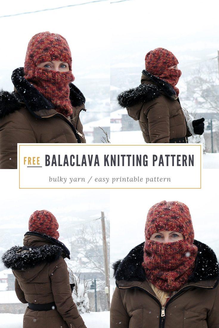 Bulky Knit Balaclava Pattern | Free Knitting Patterns ...