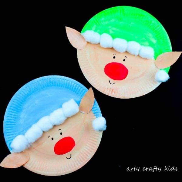 paper plate Christmas elf