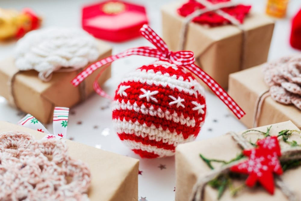 crochet Christmas bauble and ornaments