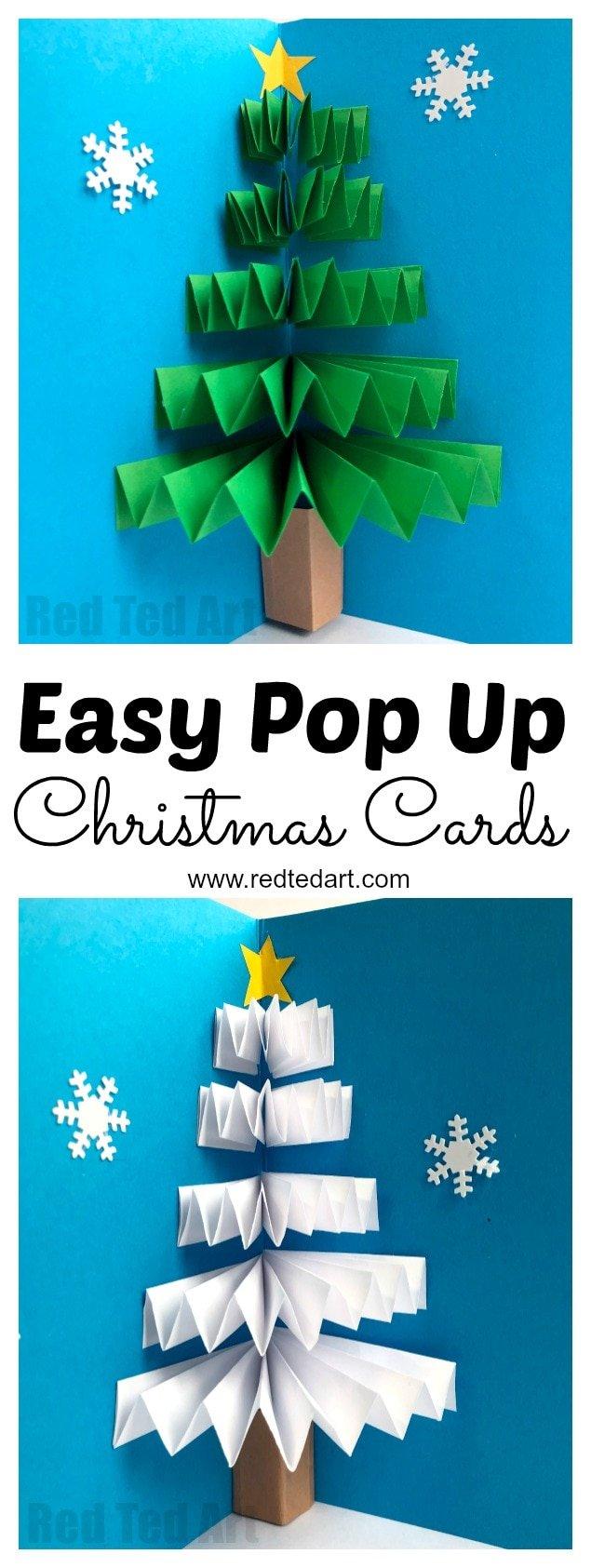 Christmas tree pop up cards