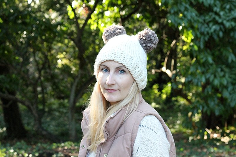 Double Pom Pom Hat Pattern | Free Knitting Patterns | Handy Little Me
