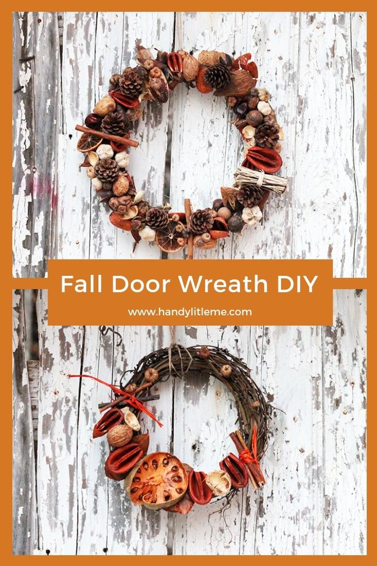 Easy front door wreath DIY