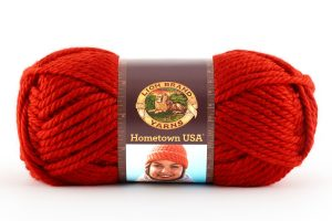 Lion Brand Hometown Yarn – Cincinnati Red – 113