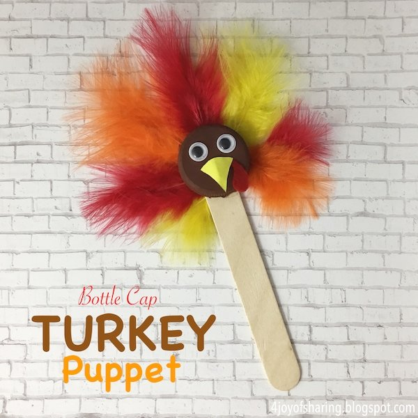 Turkey puppet thanksgiving craft